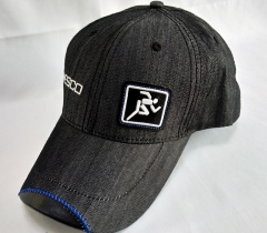 leather logo cap