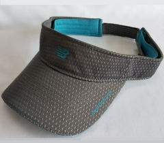 Sunvisor with sweat absorbing fabric