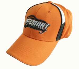 Orange color mesh golf cap