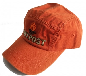 Orange washed baseball cap