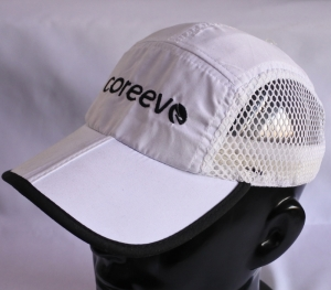white mesh racing hat